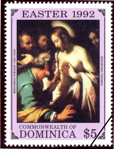 トマスの疑い 「それからトマスに言われた、「あなたの指をここにつけて、わたしの手を見なさい。手をのばしてわたしのわきにさし入れてみなさい。信じない者にならないで、信じる者になりなさい」ヨハネによる福音書20:27 1992.4.21 ドミニカ